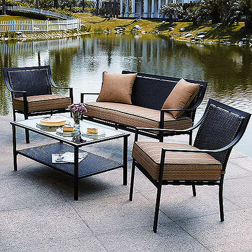 NEW Braddock Heights 4 Piece Patio Conversation Set – $350