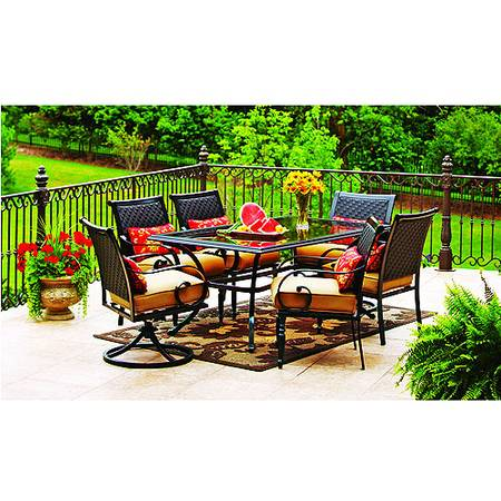 New better homes and gardens englewood heights 7 pc patio - Better homes and gardens dining set ...