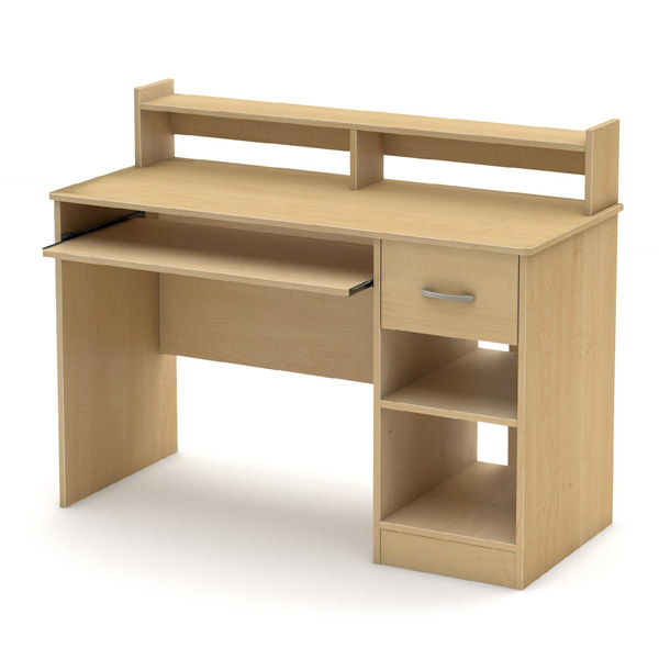 Sauder Corner Computer Desk With Hutch Carolina Oak Finish
