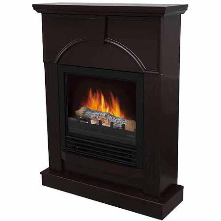 Electric Fireplace With 26 Mantle Dark Chocolate