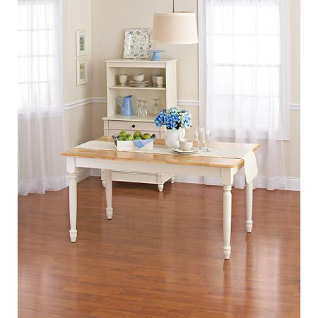 **NEW** Better Homes And Gardens Autumn Lane Farmhouse Dining Table, White  And Natural