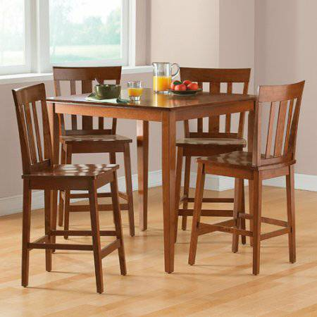Mainstays 5 Piece Counter Height Dining Set Cherry Mainstays 5